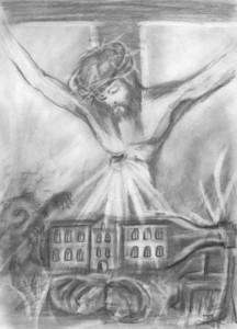 Jezus - rys.Kazimierz Pawłowski